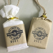 garden wedding rustic soap packaging idea