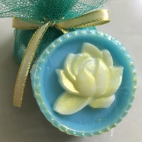 lotus flower soap blue colour ocean scented