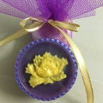 lotus flower soap purple colour lavender scented