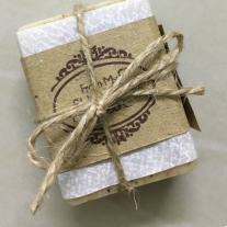 rustic packaging idea soap favours