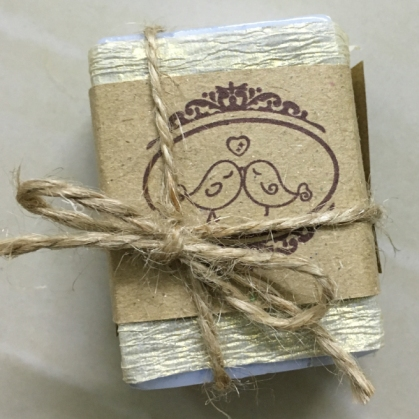 rustic theme packaging idea soap favours