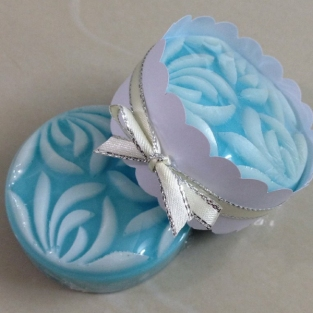 tiffany inspired wedding soap favour, ocean scented soap